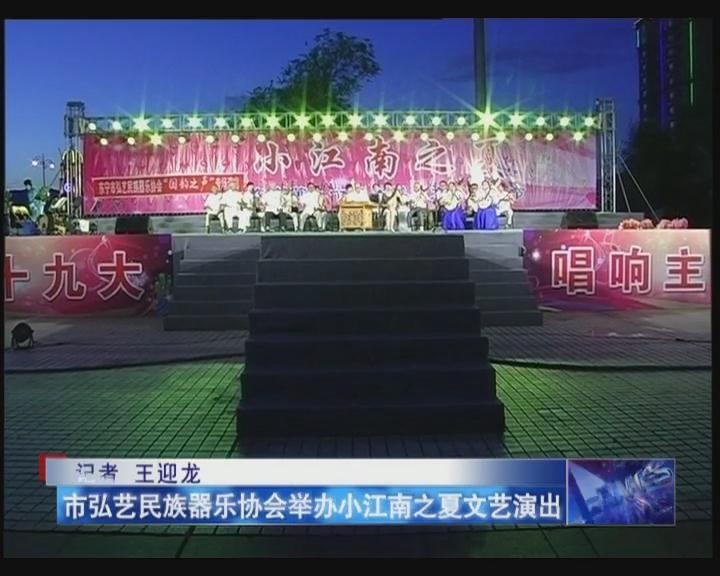 市弘艺民族器乐协会举办小江南之夏文艺演出