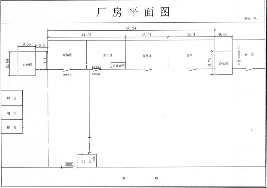 附件五:厂房平面图