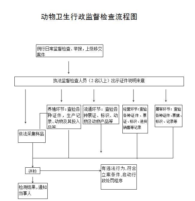 行政检查流程图